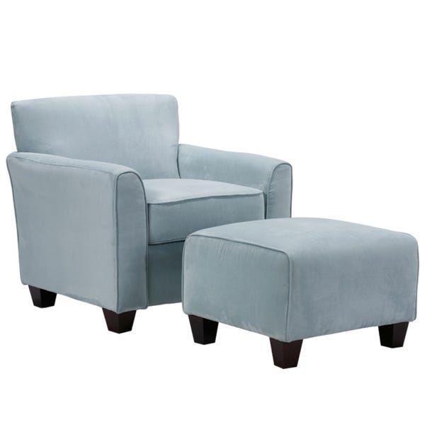 Shop Handy Living Park Avenue Sky Blue Hand-tied Accent Chair and .