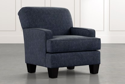 Burke Navy Blue Accent Chair | Living Spac