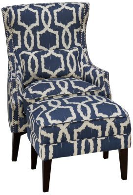 Simon Li Stampede Accent Chair & Ottoman | Accent chairs, Chair fabr