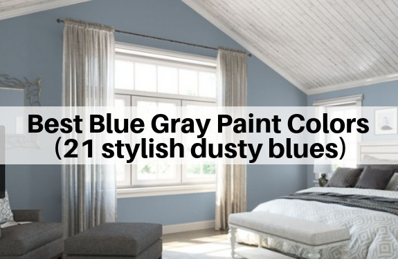 Best Blue Gray Paint Colors (21 stylish dusty blues) | The .