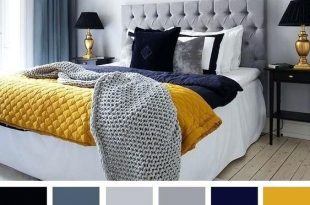 Navy Blue Yellow And Grey Bedroom Best Color Schemes For Your .