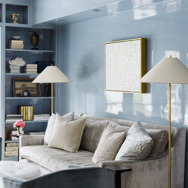 blue paint colors for living room