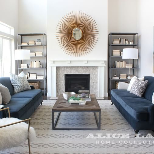 Reasons to have a modern blue living room furniture ideas | Blue .