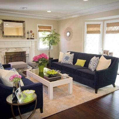 Decorating A Navy Blue Couch Design Ideas, Pictures, Remodel, and .
