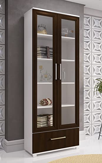 Amazon.com: Manhattan Comfort Serra 1.0 Bookcase Collection Modern .