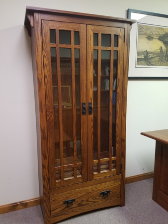 Cherrystone Furniture - Mission Bookcase with drawer and wood .