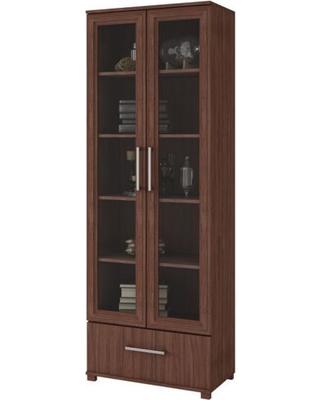 Here's a Great Deal on Modern Glass Door Display Bookshelf, 5 .
