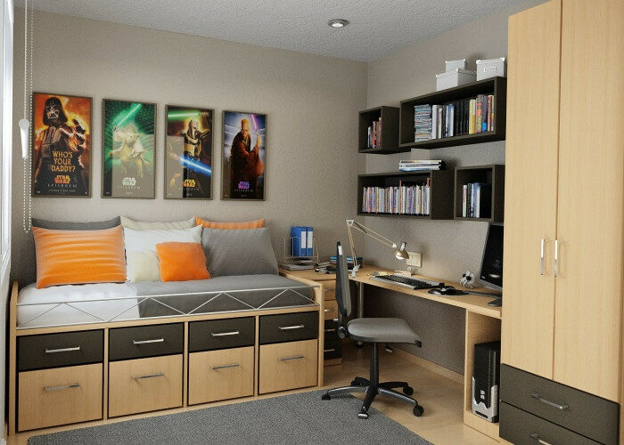 10 Ideas for Cool Bedroom Ideas for Teenage Guys Small Rooms .