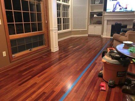 Refinish 2200 ft2 Brazilian Cherry Hardwood Floor - by Wolfdrool .