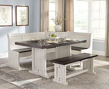 breakfast nook table with bench