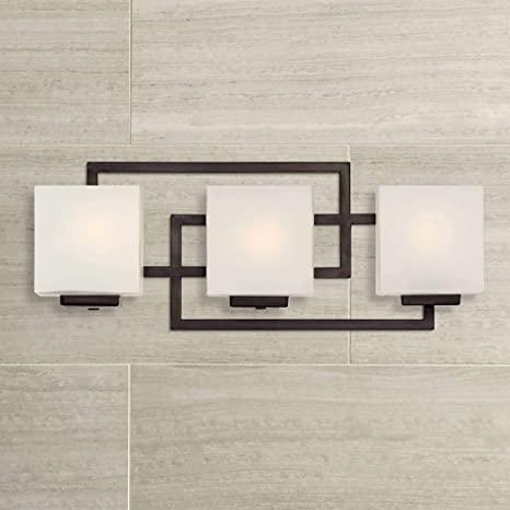 "Lighting on The Square 21"" Wide Bronze Bath Wall Light - Possini ."