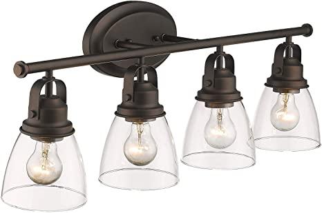Amazon.com: Zeyu 4-Light Vanity Lights, Vintage Bathroom Lighting .