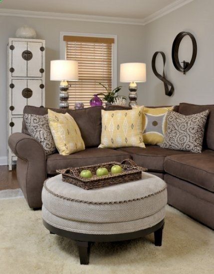 Living Room Ideas With Brown Sofas - Dream House Ide