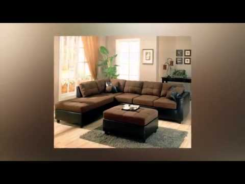 Living Room Decorating Ideas with Dark Brown Sofa - YouTu