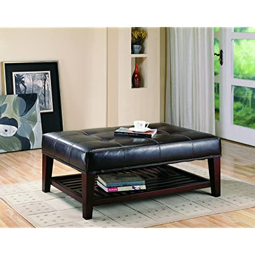 Leather Ottoman Coffee Table: Amazon.c