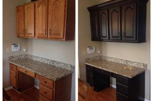 Dark Chocolate Milk Painted Kitchen Cabinets | Dark brown cabinets .