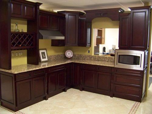 Chocolate-Brown-Paint-Kitchen-Cabinets1.jpg 500×375 pixels .