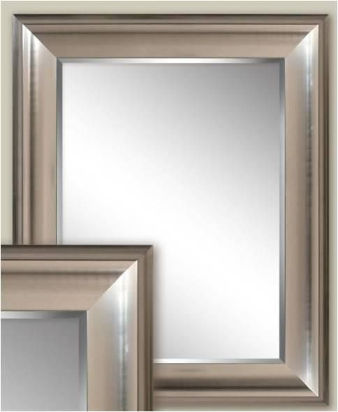 Transitional Brushed Nickel Wall Mirror (2076) | Mirror wall .