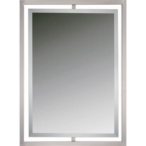 Quoizel Reflections Brushed Nickel Twenty Four Inch Rectangular .