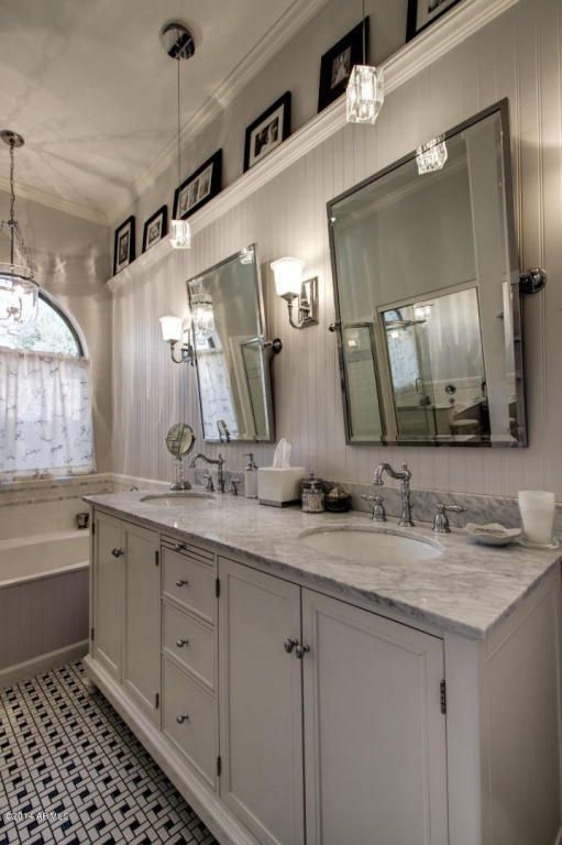 Cottage Master Bathroom with Carnegie Hill Single Bath Light .