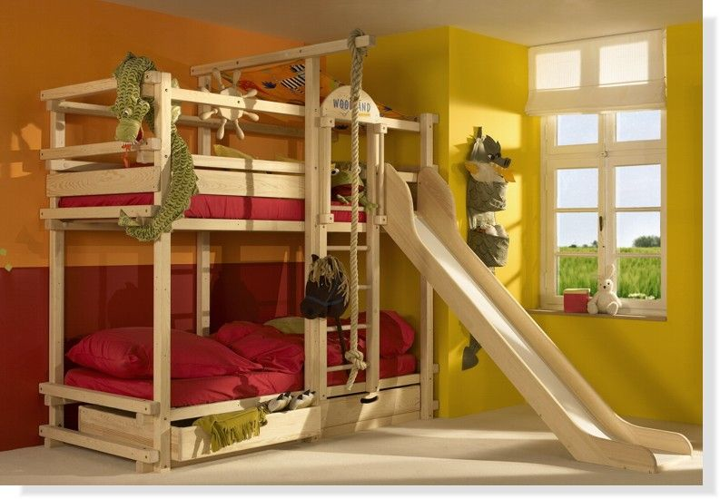 Top 10 Bunk Beds | Cool bunk beds, Bunk bed with slide, Bunk bed .