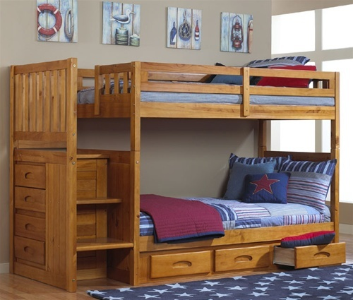 Kids honey bunk bed with stairs in orlando by discovery world .