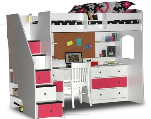 Gallery For > Loft Beds With Stairs For Teens | Bunk bed with .