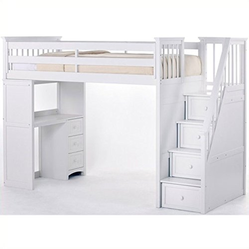 Bunk Beds with Stairs and Desk: Amazon.c