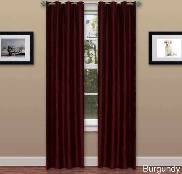 burgundy curtains | Burgundy curtains, Grommet curtains, Panel .