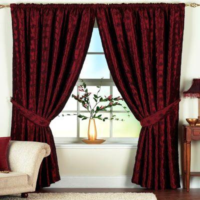 burgundy velvet curtains! | Burgundy curtains, Curtai