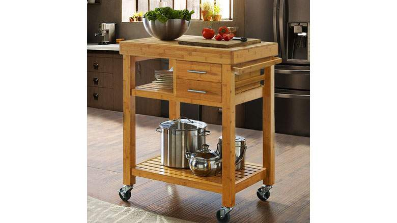 Butcher Block Table With Storage