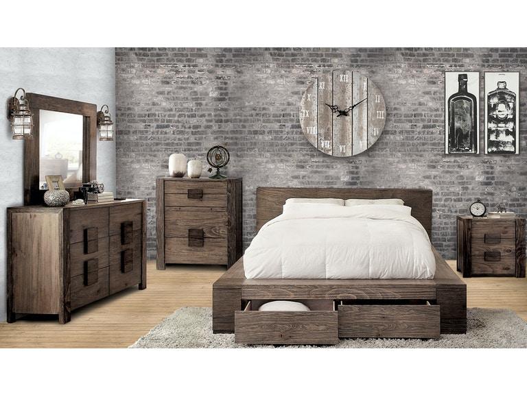 Furniture of America Bedroom Cal.King Bed Headboard CM7629CK-HB .