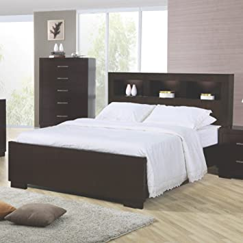 Amazon.com: Jessica California King Bed with Storage Headboard and .