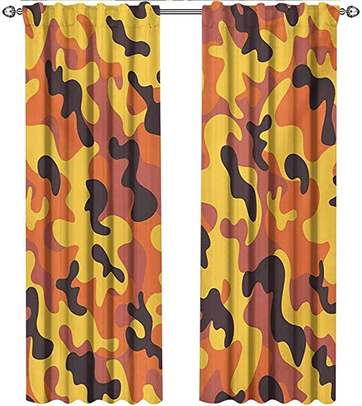 Amazon.com: shenglv Camo, Blackout Curtains Kids, Lively Colors .