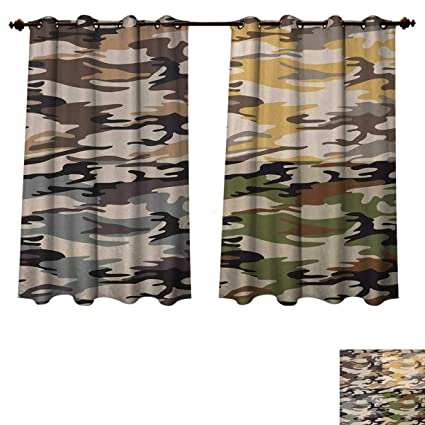 Amazon.com: Anzhouqux Camo Blackout Curtains Panels for Bedroom .