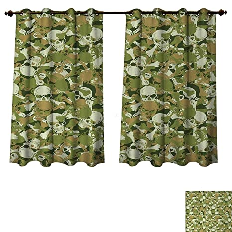 Amazon.com: Camo Blackout Curtains Panels for Bedroom Sketchy .