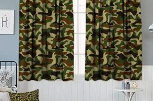Amazon.com: Anhounine Camouflage,Blackout Curtain,Squad Uniform .