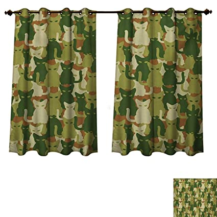 Amazon.com: RuppertTextile Camo Blackout Curtains Panels for .