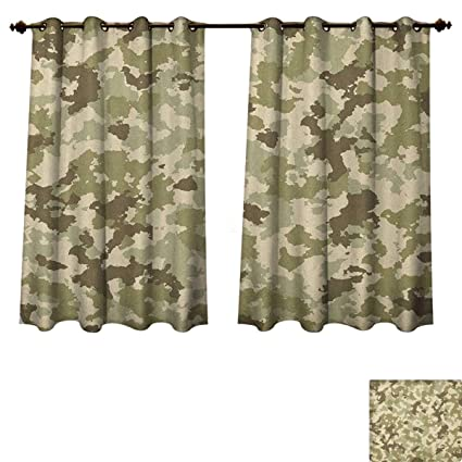Amazon.com: PriceTextile Camo Blackout Curtains Panels for Bedroom .