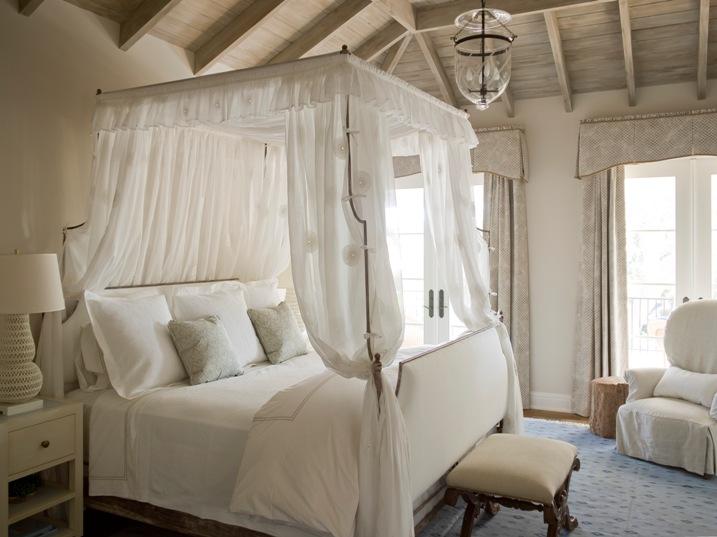 Upholstered Headboard and Footboard - Cottage - bedroom - Phoebe .