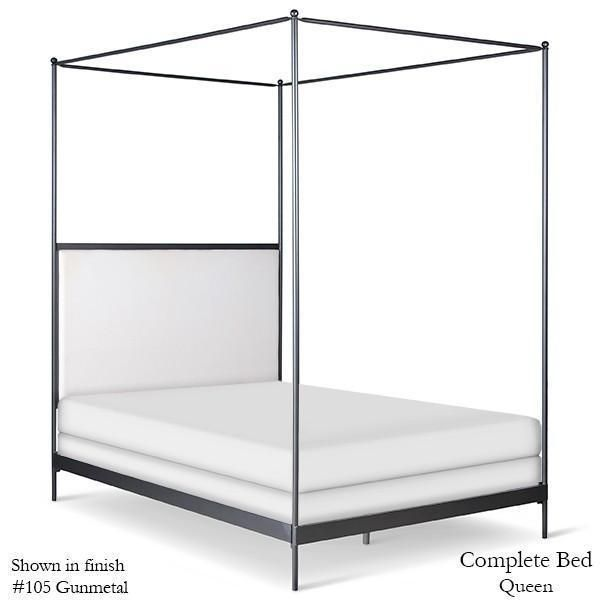 Corsican Iron Canopy Bed 43788   Upholstered Canopy Bed in 2020 .
