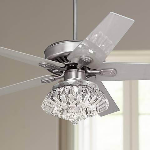 Modern Crystal Chandelier Light Kit For Ceiling Fan - Trend Design .