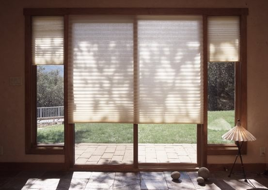 Pleated blinds on sliding glass doors | Sliding glass doors patio .