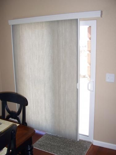 vertical cellular shades 2019 | Door shades, Door blinds, Patio .