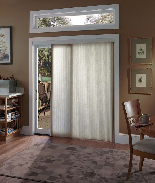 Chic Sliding Glass Doors Window Treatments: Functional or .