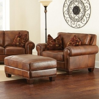 Leather Chair And A Half With Ottoman - Ideas on Fot