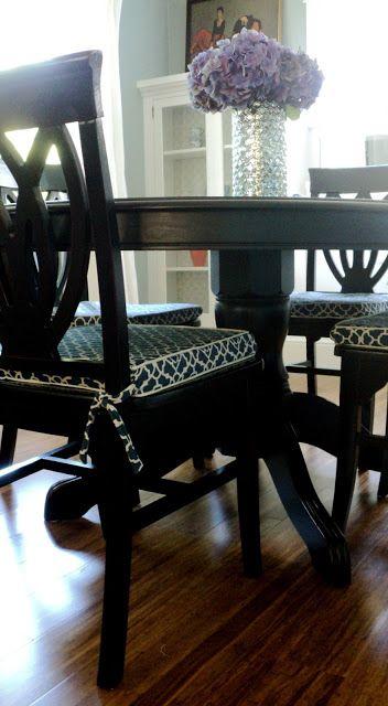 Living in the Rain Garden: Dining Room Chair Cushion Slipcover .