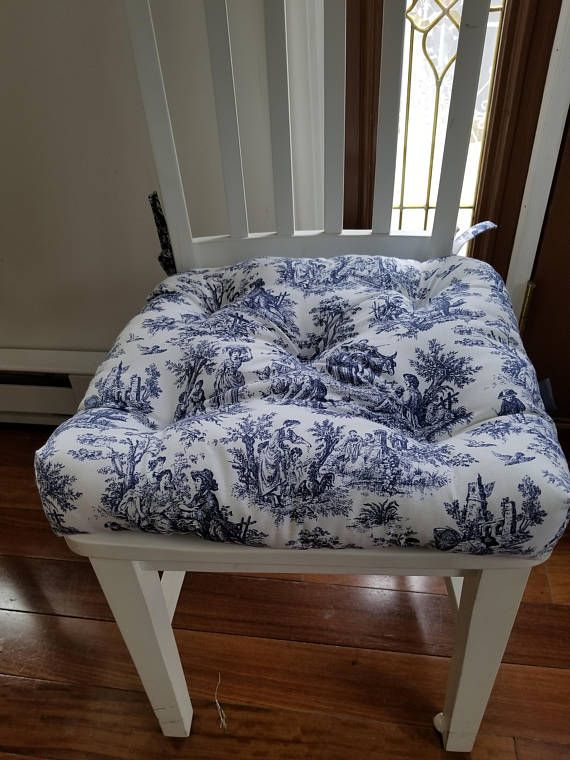 Tufted chair pad chair cushion chairseat cushion navy blue .