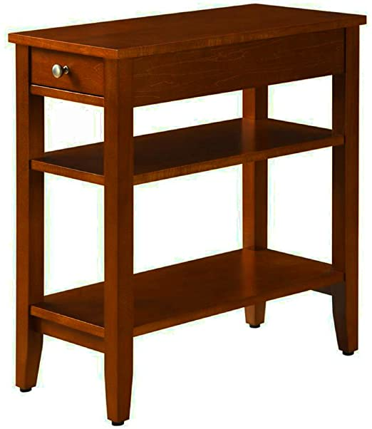 Amazon.com: Narrow End Table for Small Places with Drawer and 2 .