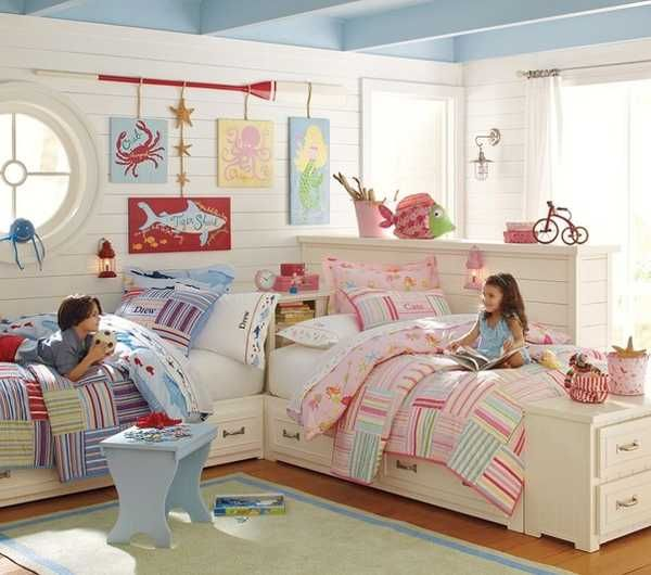 30 Kids Room Design Ideas with Functional Two Children Bedroom .